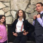 L - VP Klara; C - President Felix; R - Club Manager Dexter