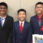 VP Avi; Pres. Kam; Club Manager Kenneth