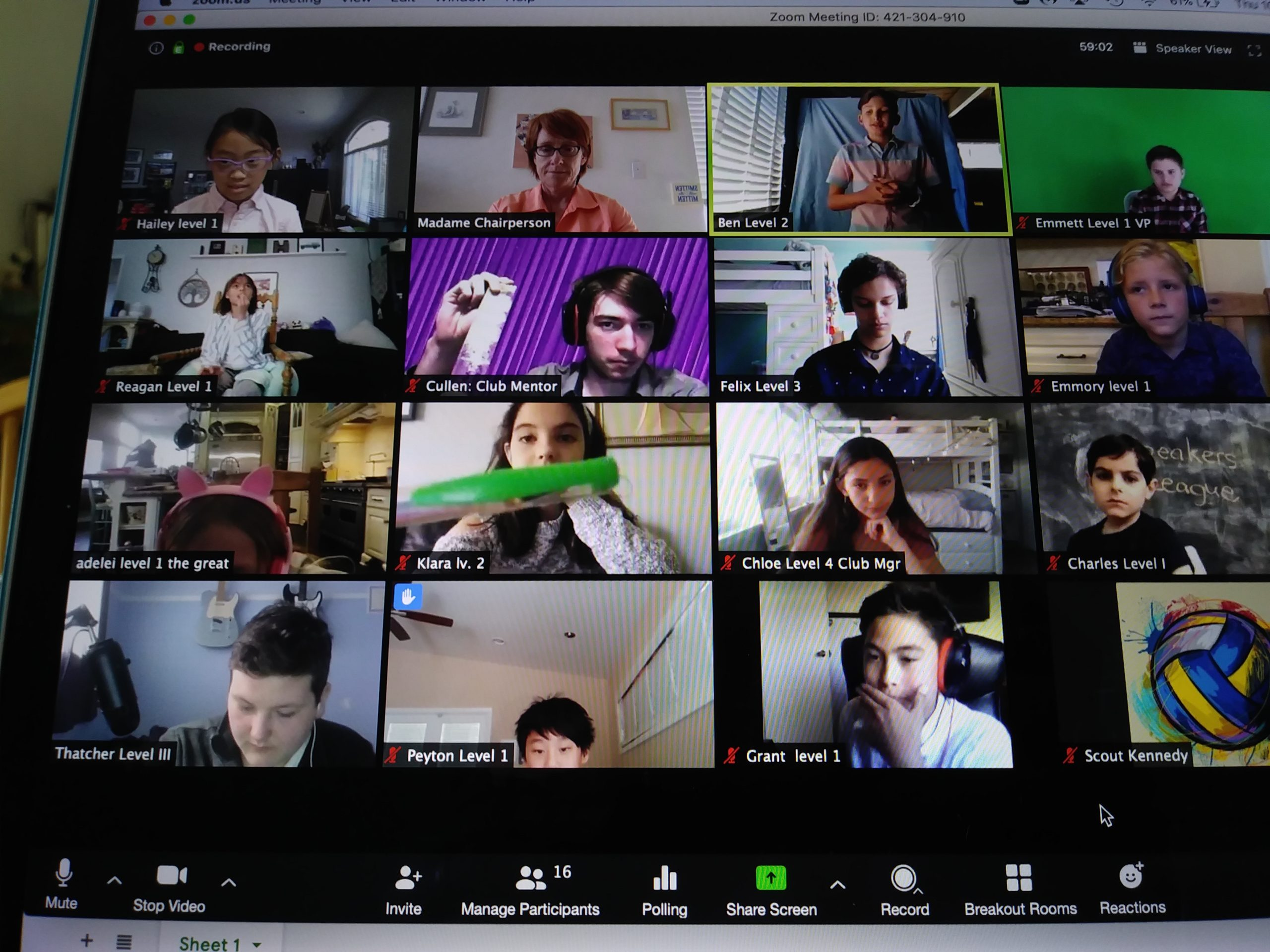 SB first Zoom Meeting